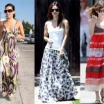 Os vestidos longos e estampados exigem acessórios mais neutros (Foto: divulgação).