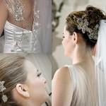 Para os vestidos de noiva os acessórios dependem do modelo, para não sobrecarregar o visual (Foto: divulgação).