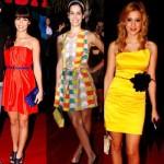 Vestidos coloridos podem ser combinados com acessórios de outras cores (Foto: divulgação).