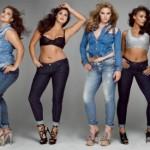 As calças jeans são as últimas tendências da moda plus size para gordinhas (Foto: divulgação).