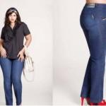 Prefira as calças jeans com cortes mais retos, pois alongam o quadril (Foto: divulgação).