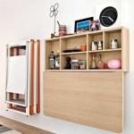 A mesa dobrável ou retrátil com fixação na parede economiza espaço. (Foto:Divulgação)