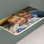 Mesa dobrável personalizada com foto.  (Foto:Divulgação)