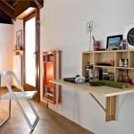 Embora seja compacta e funcional, a mesa dobrável contribui com a estética da casa.  (Foto:Divulgação)