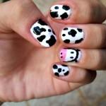 A vaquinha inspirou esta nail art. (Foto:Divulgação)