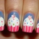 Unhas inspiradas em cupcakes. (Foto:Divulgação)