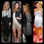 As famosas são adeptas a moda de roupas com franjas. (Foto: divulgação)