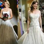 Antes de se casar, Izzie, personagem de Katherine Heigl, pediu para a amiga Meredith experimentar o vestido, em Grey's Anathomy. (Foto: divulgação)