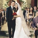 Monica e Chandler, de Friends, se casaram com muito estilo. (Foto: divulgação)
