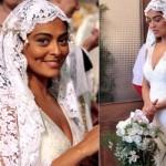 Vestido de noiva de Gabriela. (Foto:Divulgação)