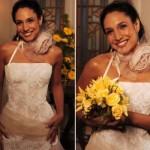 Vestido de noiva de Regininha em Senhora do Destino. (Foto:Divulgação)