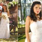 Vestido de noiva de Rosinha em Paraíso. (Foto:Divulgação)