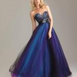 Vestido de debutante azul intenso. (Foto:Divulgação)