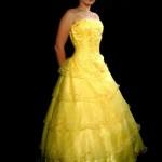 Vestido de debutante amarelo. (Foto:Divulgação)