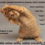 Fazendo ginástica. (Foto: Divulgação)