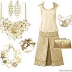 Os acessórios são indispensáveis para compor o visual com roupas douradas (Foto: divulgação).