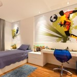 Adesivo decorativo de parede de time de futebol. (Foto:Divulgação)