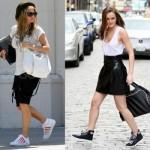 O sneaker combinou com o visual despojado de Fergie. (Foto:Divulgação)