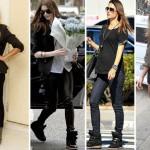 Anne Hathaway e outras famosas usando sneakers (Foto:Divulgação)