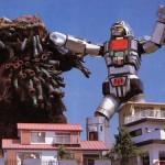 Com o gigante guerreiro Daileon, o Jaspion encarava qualquer monstro que atacasse a cidade de Tóquio (Foto: Divulgação)