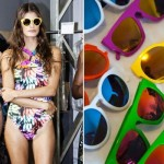 Os óculos de sol coloridos são ótimas apostas para o verão 2013 (Fotodivulgação).