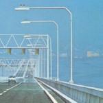 Foto da Ponte Rio-Niterói nos seus primeiros dias de funcionamento, na década de 70 (Foto: Divulgação)