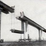 A construção da ponte foi um pouco tumultuada (Foto: Divulgação)