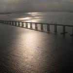 Proporcionando belas paisagens, a Ponte Rio-Niterói já foi cenário de filmes e novelas (Foto: Divulgação)