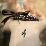 Nota musical é uma opção discreta. (Foto:Divulgação)