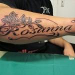 Tatuagem homenageando alguém (Foto: Divulgação)