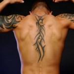 Tatuagem nas costas e nos braços (Foto: Divulgação)