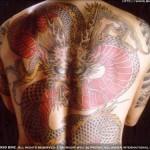 Tatuagem de dragão preenchendo todo o espaço das costas (Foto: Divulgação)