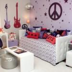 Quarto decorado para a adolescente que gosta de Rock. (Foto:Divulgação)
