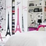 Decoração de quarto inspirada no tema Paris. (Foto:Divulgação)