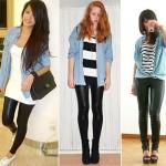 A camisa jeans pode ser usada com calça legging (Foto: divulgação).