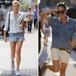 Os shorts são excelentes para serem combinados com camisas jeans (Foto: divulgação).