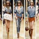 Vários visuais podem ser criados com camisas jeans femininas (Foto: divulgação).