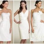 Vestido de noiva curto e básico. (Foto:Divulgação)