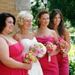 Noiva e suas damas de honra. (Foto:Divulgação)