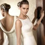 Vestido de noiva com decote nas costas. (Foto:Divulgação)
