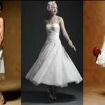 As noivas magras e baixas podem optar pelos vestidos com comprimento até o joelho (Foto: divulgação).