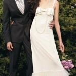 Vestido vintage combina com o casamento na praia. (Foto:Divulgação)