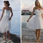 O vestido curto é uma opção para o casamento à beira mar. (Foto:Divulgação)