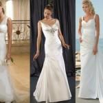 Três modelos de vestido para casamento de praia. (Foto:Divulgação)
