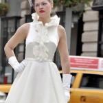 Vestido de noiva vintage com babados. (Foto:Divulgação)