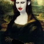 Monalisa com pintura meio gótica (Foto: Divulgação)