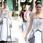 Vestido de noiva do Santos. (Foto:Divulgação)