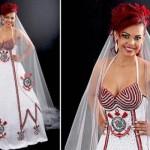 Vestido de noiva do Corinthians. (Foto:Divulgação)