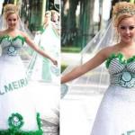 Vestido de noiva do Palmeiras. (Foto:Divulgação)