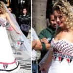 Vestido de noiva do São Paulo. (Foto:Divulgação)